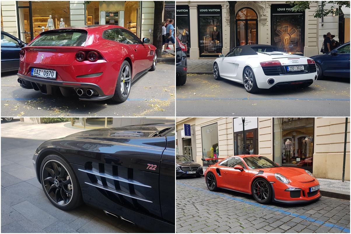 Czechy - Praga, Ferrari, Audi R8, Mercedes, Porsche