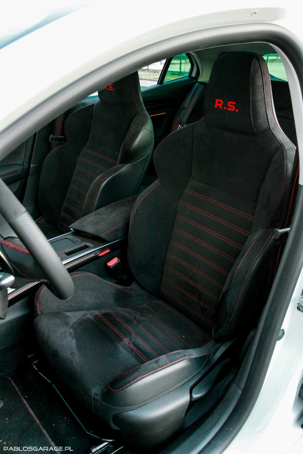 2018 Renault Megane RS 280 KM wnętrze, środek, interior